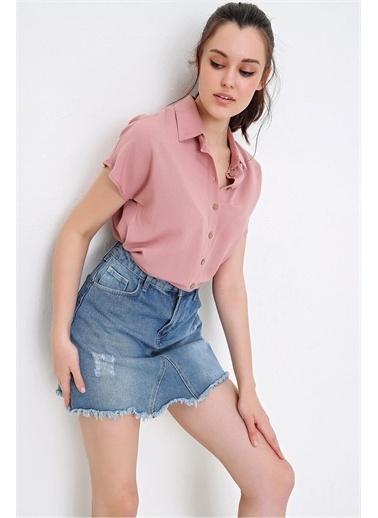 Pink Park Keyen Kısa Kol Gömlek KH00011 Pembe